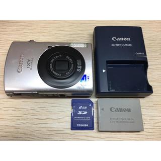 キヤノン(Canon)のキヤノン Canon IXY 910IS デジカメ SDカード付(コンパクトデジタルカメラ)