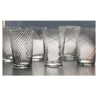 アッシュペーフランス(H.P.FRANCE)の仏アンティーク🍋美品 ヴェネティアンリヴグラス 1900sタンブラーペア2点(グラス/カップ)
