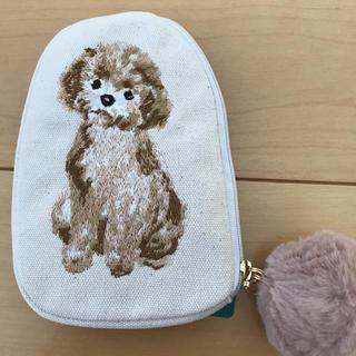 AfternoonTea - アフタヌーンティー トイプードル 刺繍フラットポーチ ⭐︎タグ付き新品