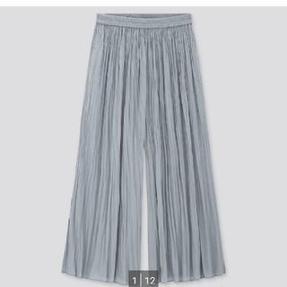 UNIQLO - ワッシャーサテンスカートパンツ ユニクロ