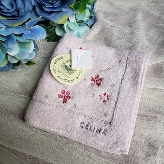 celine - オーガニックコットン CELINE ハンカチ セリーヌ
