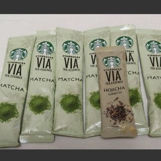 Starbucks Coffee - スターバックス ヴィア® ティーエッセンス 抹茶6本&ほうじ茶1本