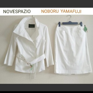 NOVESPAZIO - NOVESPAZIO(ノーベスパジオ)    ストレッチスカートスーツ 上下