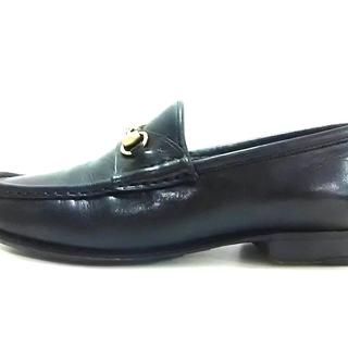 グッチ(Gucci)のグッチ ローファー 35 1/2 C レディース 黒(ローファー/革靴)
