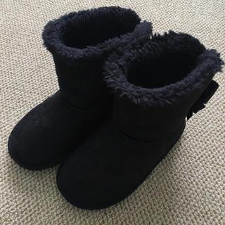 エニィファム(anyFAM)の(18.0㎝)■エニィファム/anyFAM■黒ムートンブーツ(ブーツ)