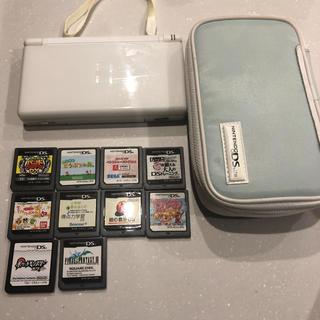 ニンテンドーDS(ニンテンドーDS)の格安 Nintendo DS lite ソフト10個付き(携帯用ゲーム機本体)