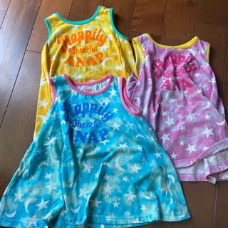 アナップキッズ(ANAP Kids)のアナップキッズ 三色色違いタンクトップ まとめ売り(Tシャツ/カットソー)