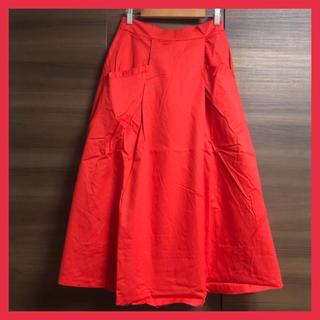 merlot - 【新品】 フレアロングスカート メルロー レッド フリーサイズ