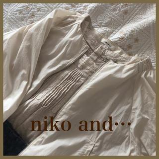 ニコアンド(niko and...)の☆niko and…☆ノーカラー七分袖ジャケット☆(ノーカラージャケット)