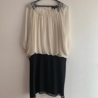 アンタイトル(UNTITLED)のアンタイトル42  大きいサイズ バイカラーワンピース 結婚式 ドレス(その他ドレス)