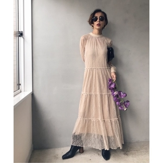 Ameri VINTAGE - SHIRRING SHEER DRESS