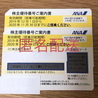 エーエヌエー(ゼンニッポンクウユ)(ANA(全日本空輸))の匿名配送 ANA 株主優待券 2枚(航空券)