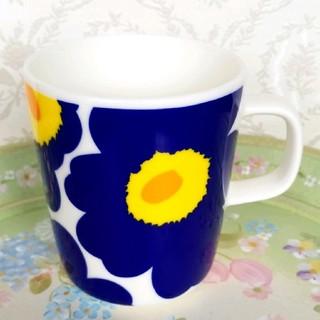 マリメッコ(marimekko)のマリメッコ、マグカップ、ブルー(グラス/カップ)