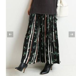 IENA - イエナ♡ドットフラワーロングプリーツスカート 36