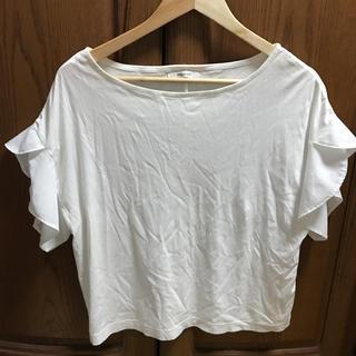 オペークドットクリップ(OPAQUE.CLIP)のオペークドットクリップ フリルTシャツ(Tシャツ(半袖/袖なし))