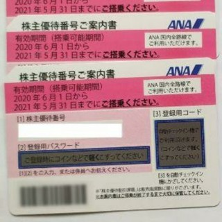 JAL(日本航空) - ★2枚セット★JAL 株主優待券 2021年5月31日まで使用可