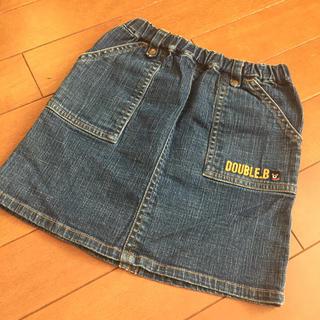 ダブルビー(DOUBLE.B)のダブルビー デニムスカート・サイズ100(スカート)