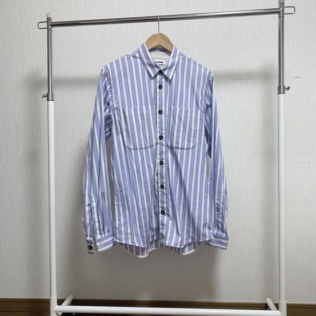 Jil Sander(ジルサンダー)のjil sander  2018aw ストライプシャツ ブルー 胸ポケット有 メンズのトップス(シャツ)の商品写真