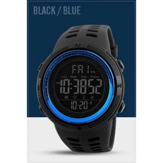 SKMEI デジタルスポーツウォッチ(ブラック・ブルー)(腕時計(デジタル))