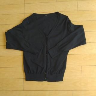 UNIQLO - ユニクロ UVカットVネックカーディガン ブラック L