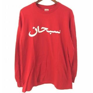Supreme - Supreme Arabic Logo L/S Tee L Red