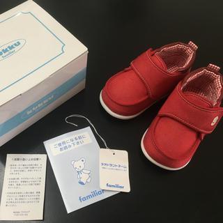 familiar - ファミリア  赤 ベビー  シューズ 13.5 新品