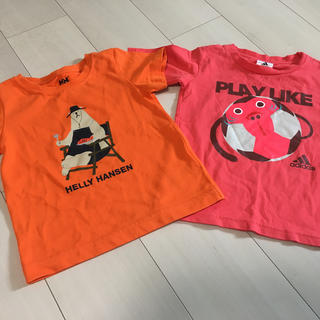 ヘリーハンセン(HELLY HANSEN)のヘリーハンセン アディダス Tシャツ 二枚セット 100サイズ(Tシャツ/カットソー)