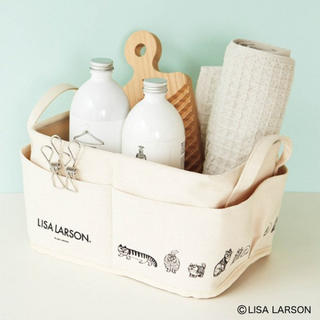 Lisa Larson - InRed 9月号付録 リサ・ラーソンの外ポケット付き収納ボックス