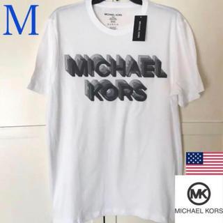 マイケルコース(Michael Kors)のレア 新品 MICHAEL KORS USA メンズロゴTシャツ M ホワイト(Tシャツ/カットソー(半袖/袖なし))
