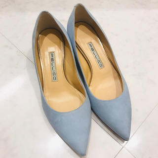 PELLICO - ペリーコ アンドレア パンプス チャンキーヒール PELLICO  美品 ブルー
