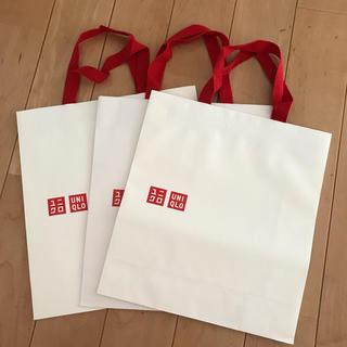 ユニクロ(UNIQLO)のショップ紙袋3P(ショップ袋)