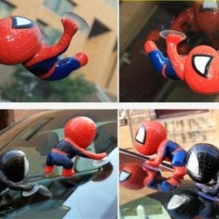 BAスパイダーマン 2個セット レッド と ブラック 吸盤付きフィギュア