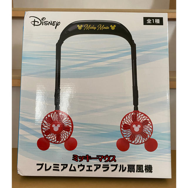 Disney(ディズニー)のミッキー マウス プレミアムウェアラブル扇風機 スマホ/家電/カメラの冷暖房/空調(扇風機)の商品写真