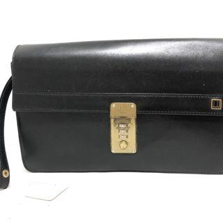 ダンヒル(Dunhill)のダンヒル セカンドバッグ - 黒 レザー(セカンドバッグ/クラッチバッグ)