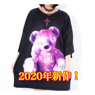 ミルクボーイ(MILKBOY)の春新作! TRAVAS TOKYO トラバストーキョー クマTシャツ 黒ピンク(Tシャツ/カットソー(七分/長袖))