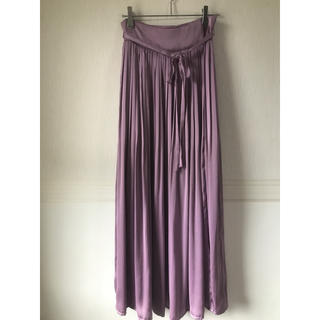 mame - mame 2017ss パープル 巻きスカート