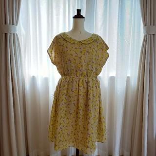 チャイルドウーマン(CHILD WOMAN)の花柄ワンピース CHILDWOMAN イエロー 黄色 夏物 レディース(ひざ丈ワンピース)