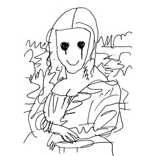 Coffee Break Drawing of Mona Lisa_P