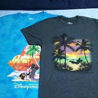 ディズニー(Disney)の値下げ 香港ディズニー Tシャツ セット ミッキー サンセットビーチ 2枚セット(キャラクターグッズ)