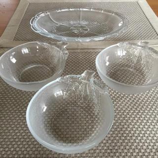 東洋佐々木ガラス - ✨ガラスの器✨茄子デザート皿 3ピースオーバルプレート