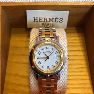 Hermes - エルメス クリッパー 腕時計 レディース CL4.220 白文字盤 HERMES