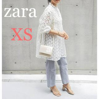 ZARA - 新品 ザラ ストラクチャ入り 生地 ミニワンピース XS