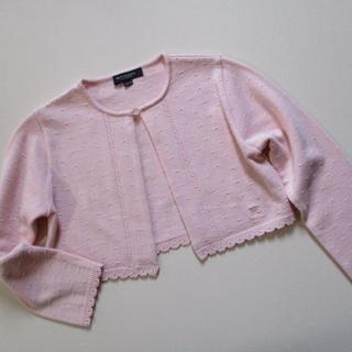 バーバリー(BURBERRY)の子供服 バーバリー BURBERRY ピンク カーデ 120A 美品(カーディガン)