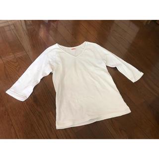 ハリウッドランチマーケット(HOLLYWOOD RANCH MARKET)のホワイト 7分丈 ハリウッドランチマーケット ストレッチフライス Tシャツ M(Tシャツ/カットソー(七分/長袖))