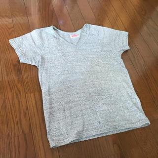 ハリウッドランチマーケット(HOLLYWOOD RANCH MARKET)のグレー ハリウッドランチマーケット ストレッチフライス Tシャツ M(Tシャツ/カットソー(七分/長袖))