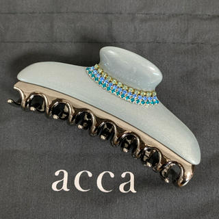 acca - アッカ ヘアクリップ Lサイズ パールグレー