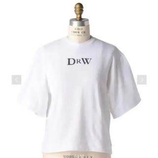 ドゥロワー(Drawer)の新品✨ドゥロワー ロゴ入りTシャツ 白(Tシャツ(半袖/袖なし))