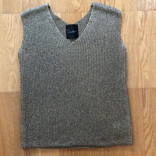 アーバンリサーチロッソ(URBAN RESEARCH ROSSO)のURBAN RESEARCH ROSSO ラメVネックショートスリーブニット(Tシャツ(半袖/袖なし))