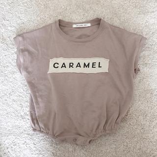 Caramel baby&child  - mini powder caramel ロンパース
