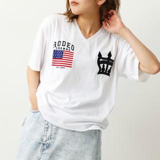 RODEO CROWNS WIDE BOWL - ロデオ★ クラウン刺繍Tシャツ